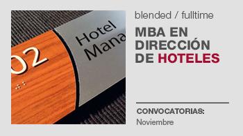 MBA EN DIRECCIÓN DE HOTELES